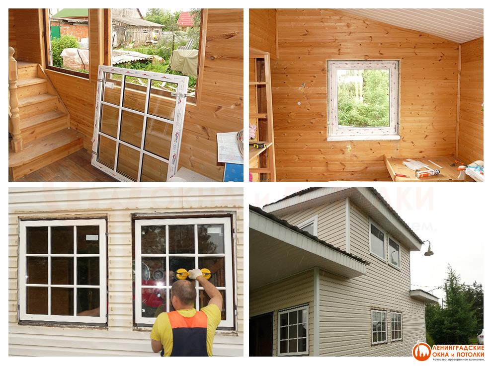 Фотографии наших работ: окна, остекление, потолки