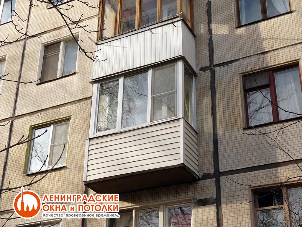 Застекление балкона хрущевка фото.