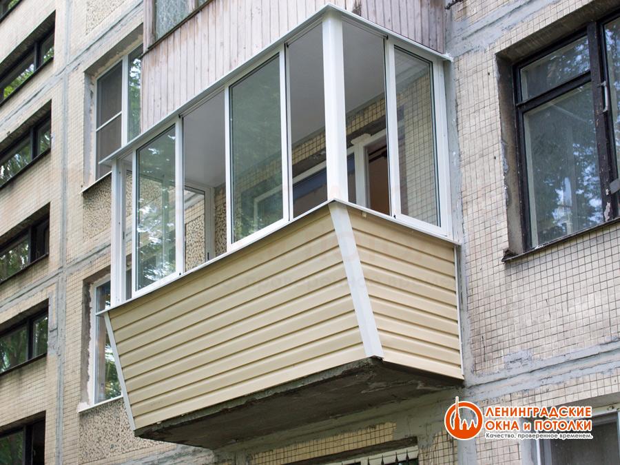 Остекление балконов с выносом в спб. низкая цена и профессио.