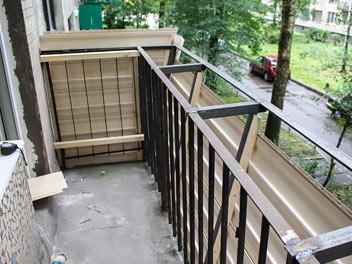 Остекление балкона с выносом