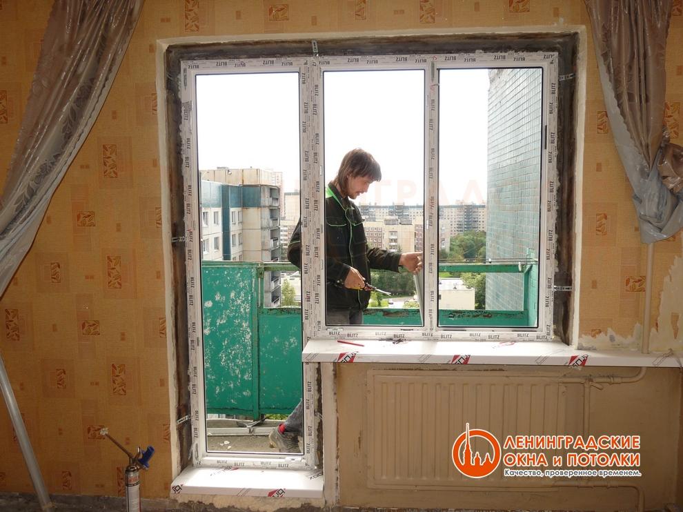 Остекление балконов в блочном доме..