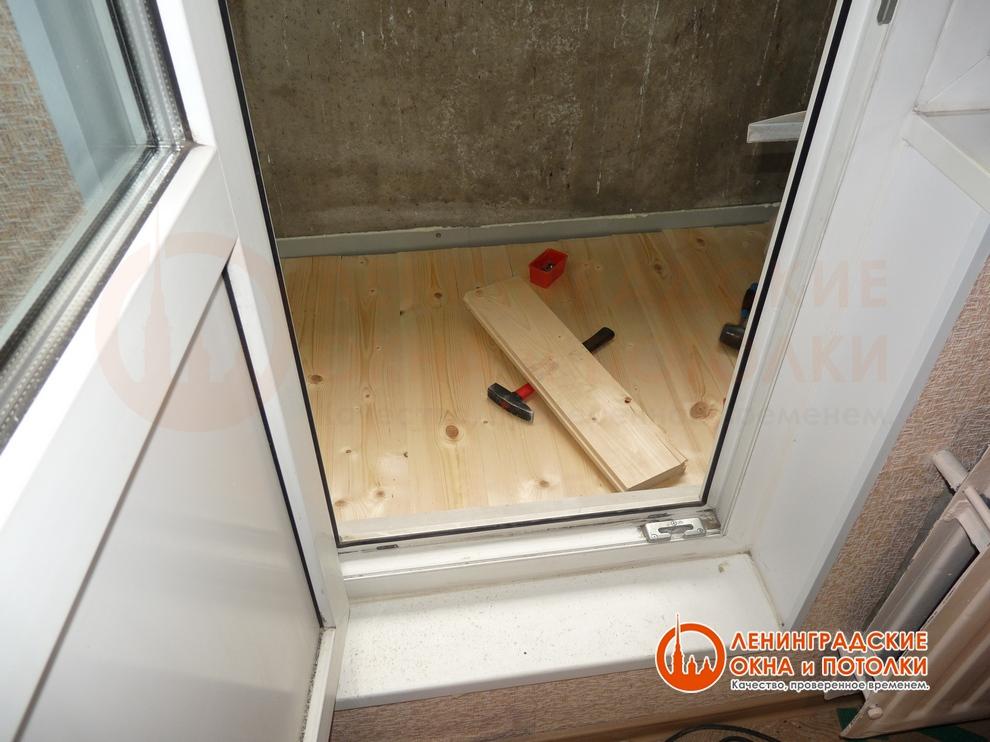 Перекрытие балкона.