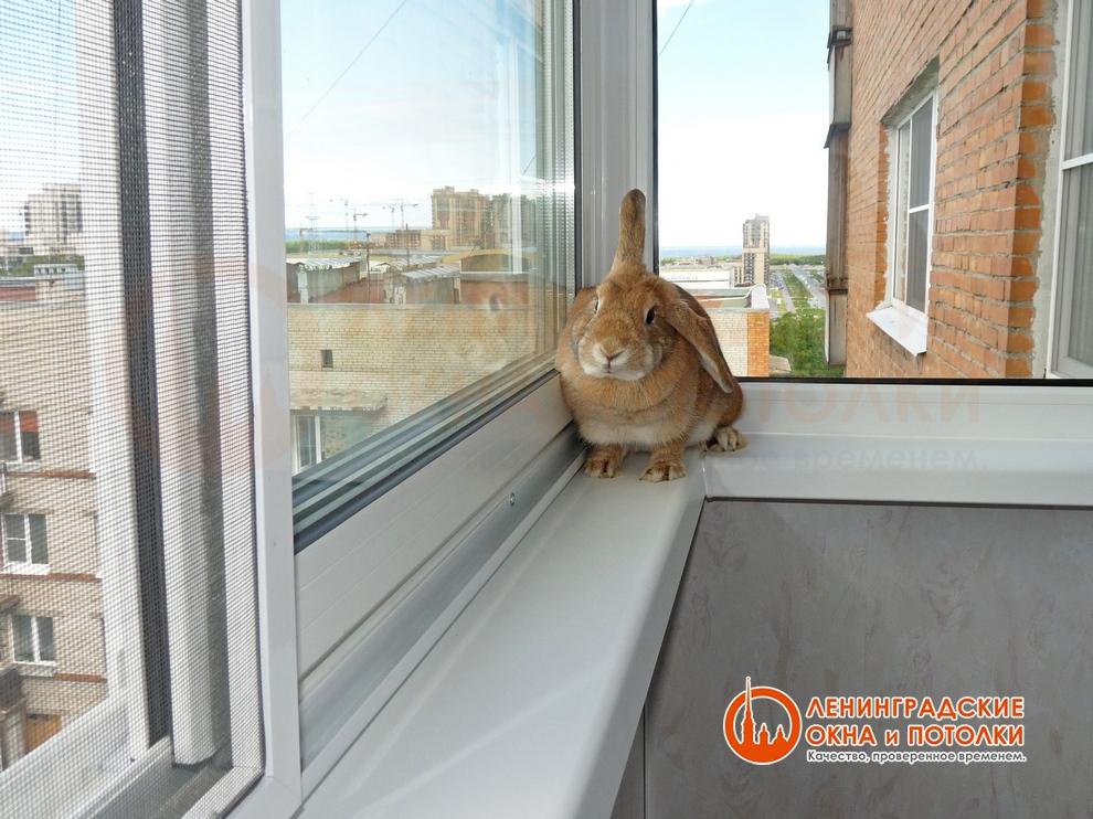 Теплое остекление балкона раздвижная система.