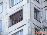 Один из последних этапов демонтажа створок окна