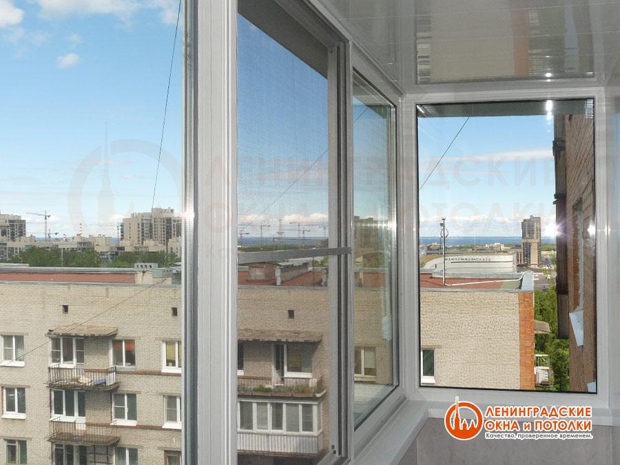 Москитная сетка на пластиковый раздвижной балкон slidors..