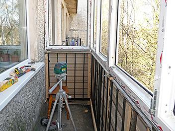 Монтаж тёплого остекления балкона