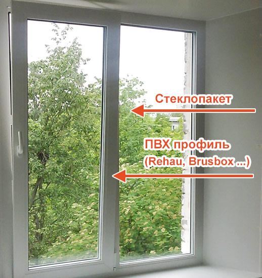 окно в загородном доме