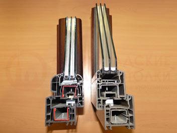 Двухкамерный стеклопакет в разрезе