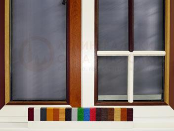 Ламинированные, цветные окна ПВХ