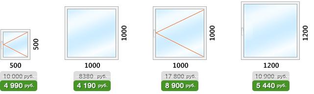 Цены на ПВХ окна