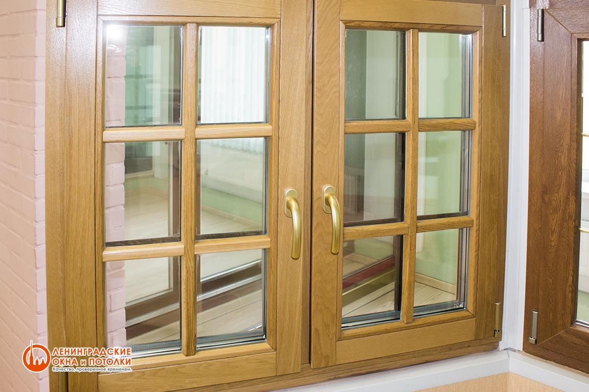 Деревянное окно из дуба
