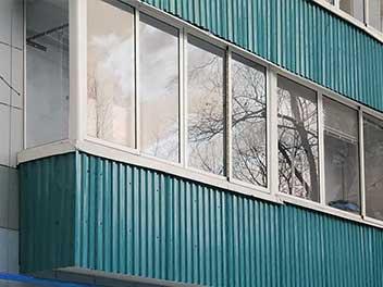 Балкон с профнастилом