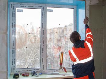 Установка откосов на окнах