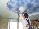 Окантовка первого уровня потолка декоративной лентой - фото 4