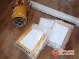 Доставка натяжные полотен и оборудования на место установки