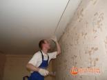 Закрепление боковых стенок натяжного полотна