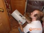 Прогрев помещения туалета тепловой пушкой