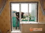 Крепление подокнника окна со стороны балкона