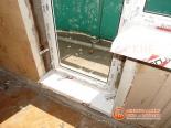 Установка порога перед балконной дверью