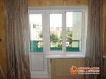 Фото установленного окна и балконной двери