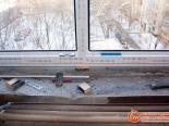 Проверка правильной установки ПВХ окна на кухне