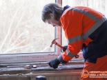 Монтаж ПВХ окна на кухне