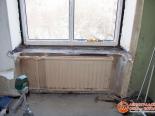 Один из этапов установки ПВХ окна