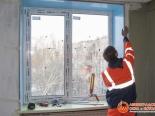 Выполнение откосов для установленного окна ПВХ