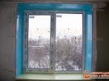 Монтаж пластикового окна на кухне  закончен