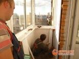 Отделка парапета балкона изнутри