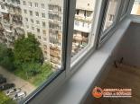 Остекление Slidors на балконе многоэтажки
