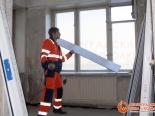 Подгонка материала для установки окна