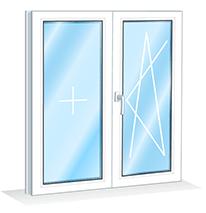 Ремонт двухстворчатого окна
