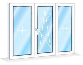 Ремонт трёхстворчатого окна