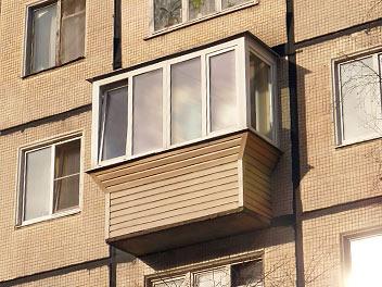 Выносное остекление балконов с выносом